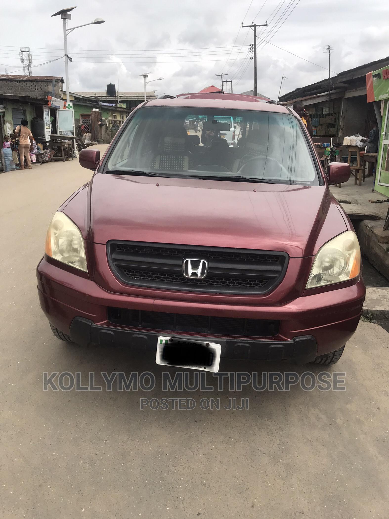 Honda Pilot 2003 LX 4x4 (3.5L 6cyl 5A) Red