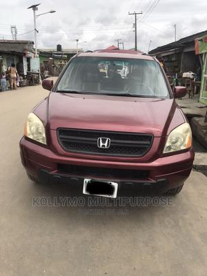 Honda Pilot 2003 LX 4x4 (3.5L 6cyl 5A) Red | Cars for sale in Lagos State, Surulere