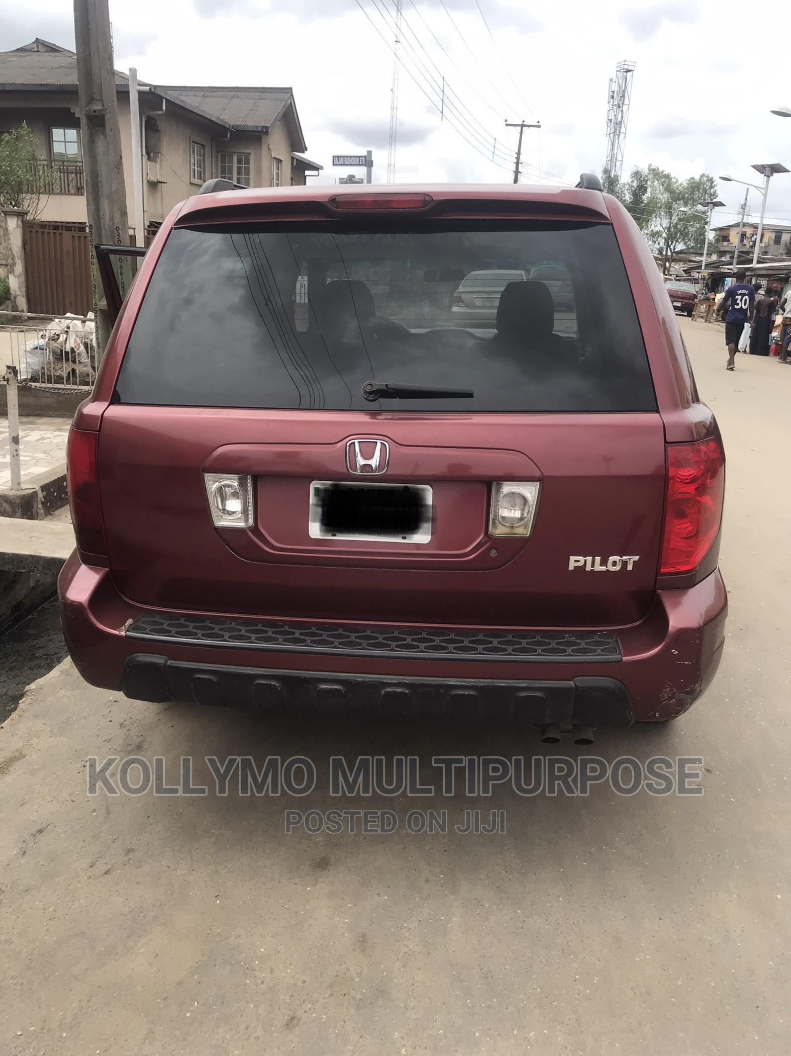 Honda Pilot 2003 LX 4x4 (3.5L 6cyl 5A) Red   Cars for sale in Surulere, Lagos State, Nigeria