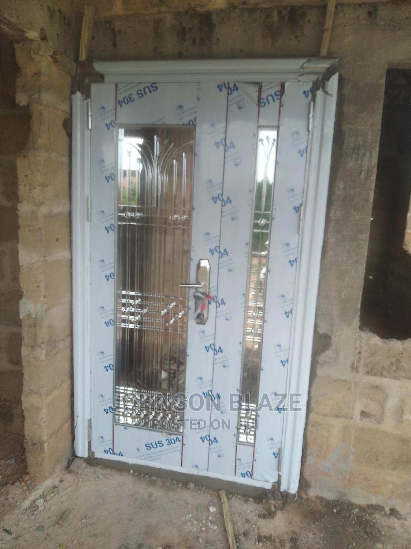 Archive: Door in Door Stainless Glass Door