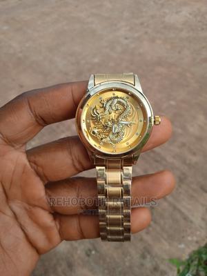 Engraved Dragon Golden Chain Watch | Watches for sale in Enugu State, Enugu