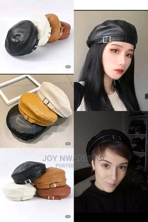 Buckle Leather Beret for Unisex | Clothing Accessories for sale in Lagos State, Lagos Island (Eko)