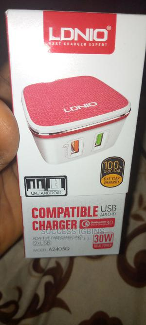 Original LDNIO Uk 3.0w Fast Compatible Charger With Dual USB | Accessories for Mobile Phones & Tablets for sale in Lagos State, Agege