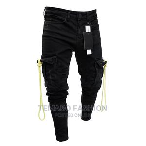 Men's Fashion Multi Pocket Overall Jeans Trouser | Clothing for sale in Lagos State, Ogba