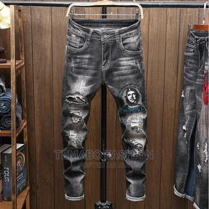 High Quality Men Street Jeans Personalized Print   Clothing for sale in Lagos State, Ogba