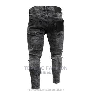 Stylish Men Straight Jeans Slim Fit Ripped Jeans   Clothing for sale in Lagos State, Ogba