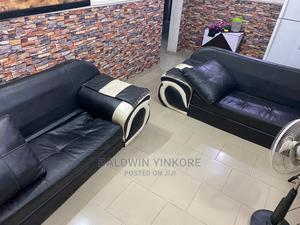 2 Units of Leather Chairs (Plus Free Center Table) | Furniture for sale in Lagos State, Ilupeju