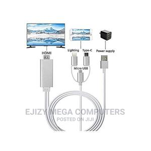 Hdtv Cable for Mini Hdmi Lightning Type C to Hdmi   Computer Accessories  for sale in Lagos State, Lagos Island (Eko)