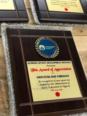 Award Plaque.   Arts & Crafts for sale in Lagos State, Ikeja