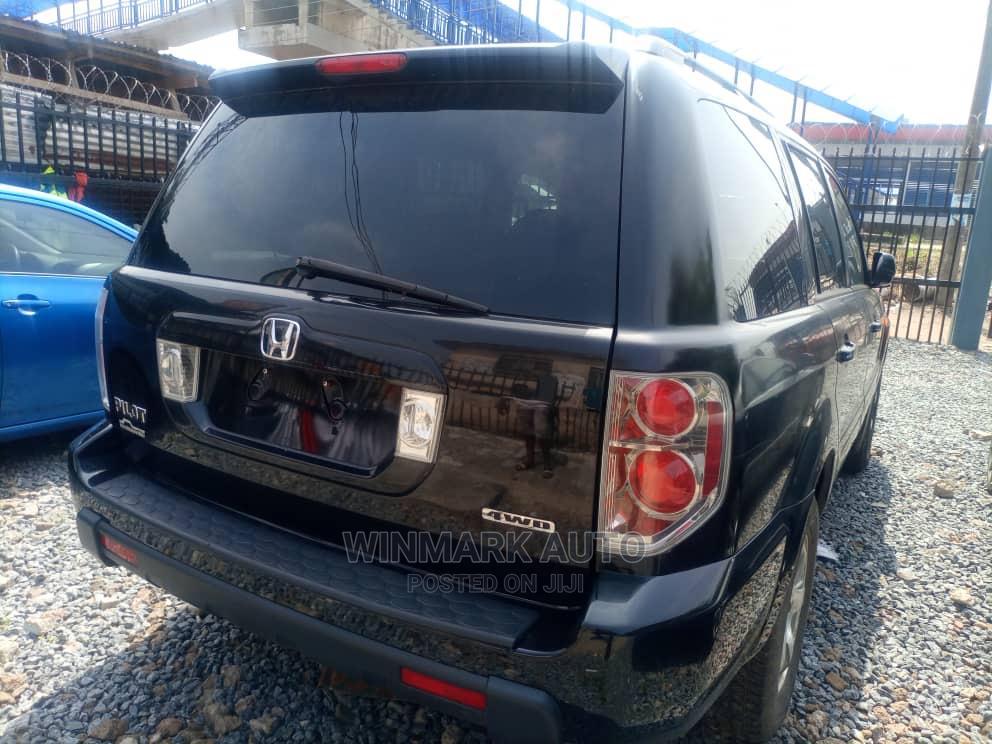 Honda Pilot 2008 EX 4x4 (3.5L 6cyl 5A) Black   Cars for sale in Oshodi, Lagos State, Nigeria