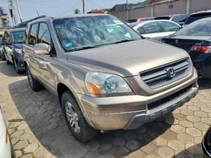 Honda Pilot 2004 EX 4x4 (3.5L 6cyl 5A) Gold | Cars for sale in Lagos State, Ikeja