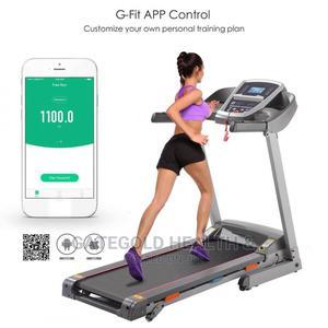 Motorized Technofitness Treadmill 2.5hp 100kg Bluetooth App   Sports Equipment for sale in Lagos State, Ajah