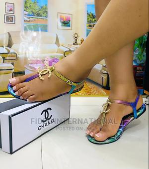 Original Chanel Flat Sandals | Shoes for sale in Lagos State, Ajah