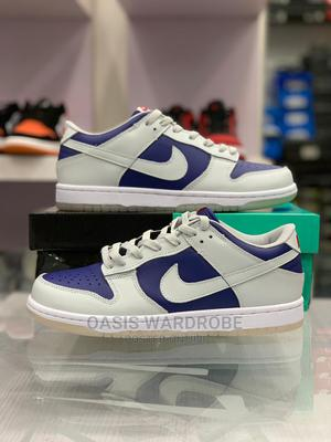"""Original Nike Dunk Low """"College Navy Wolf Grey"""" Sneakers 