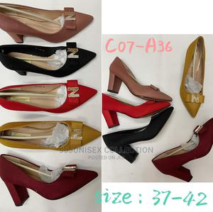 Block Heel Covered Shoe. Os | Shoes for sale in Lagos State, Lekki
