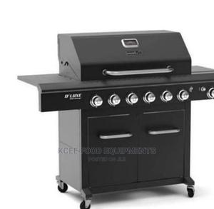 6 Burners Black Outdoor Barbecue Grill | Restaurant & Catering Equipment for sale in Lagos State, Surulere
