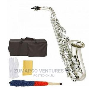 Yamaha Quality Alto Saxophone Silver With Sax Stand | Musical Instruments & Gear for sale in Lagos State, Lekki