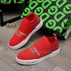 Original Red Dolce and Gabbana Sneakers   Shoes for sale in Lagos State, Lagos Island (Eko)