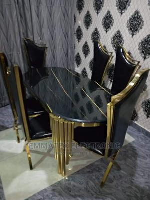 Classic Set of Gold Marble Dinning Table With 6 Chairs   Furniture for sale in Lagos State, Ajah