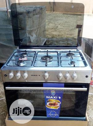 Brand New Maxi--5borner ALL Gas Cooker (60*90) Silver Color | Kitchen Appliances for sale in Lagos State, Ojo
