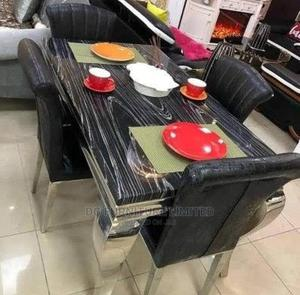Marble Dinning Table With 4 Chairs | Furniture for sale in Lagos State, Victoria Island