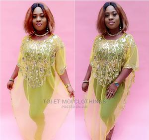 Yellow Sequence Abaya Dress   Clothing for sale in Lagos State, Surulere