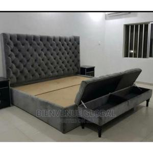 Super Bedframe + Two Sidebed Cabinet + Dressing Mirror | Furniture for sale in Lagos State, Ikeja
