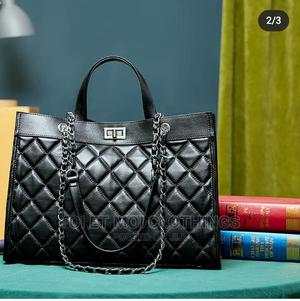 Black Leather Chain Strap Bag   Bags for sale in Lagos State, Surulere