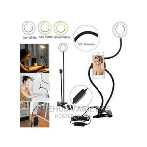 Professional Live Streaming Ring Light With Phone Holder | Accessories & Supplies for Electronics for sale in Lagos State, Ifako-Ijaiye