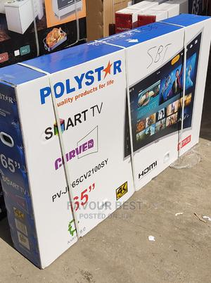 """Polystar 65""""Inch Curved Smart TV Netflix Youtube Free Mount   TV & DVD Equipment for sale in Lagos State, Ojo"""