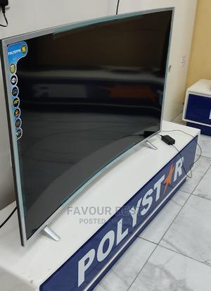 "2021>Polystar Curved 65""UHD 4K Smart Netflix Youtube+ Mount | TV & DVD Equipment for sale in Lagos State, Ojo"