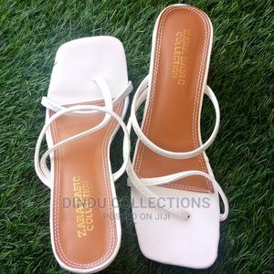 Ladies White Low Heel Slippers | Shoes for sale in Lagos State, Ibeju