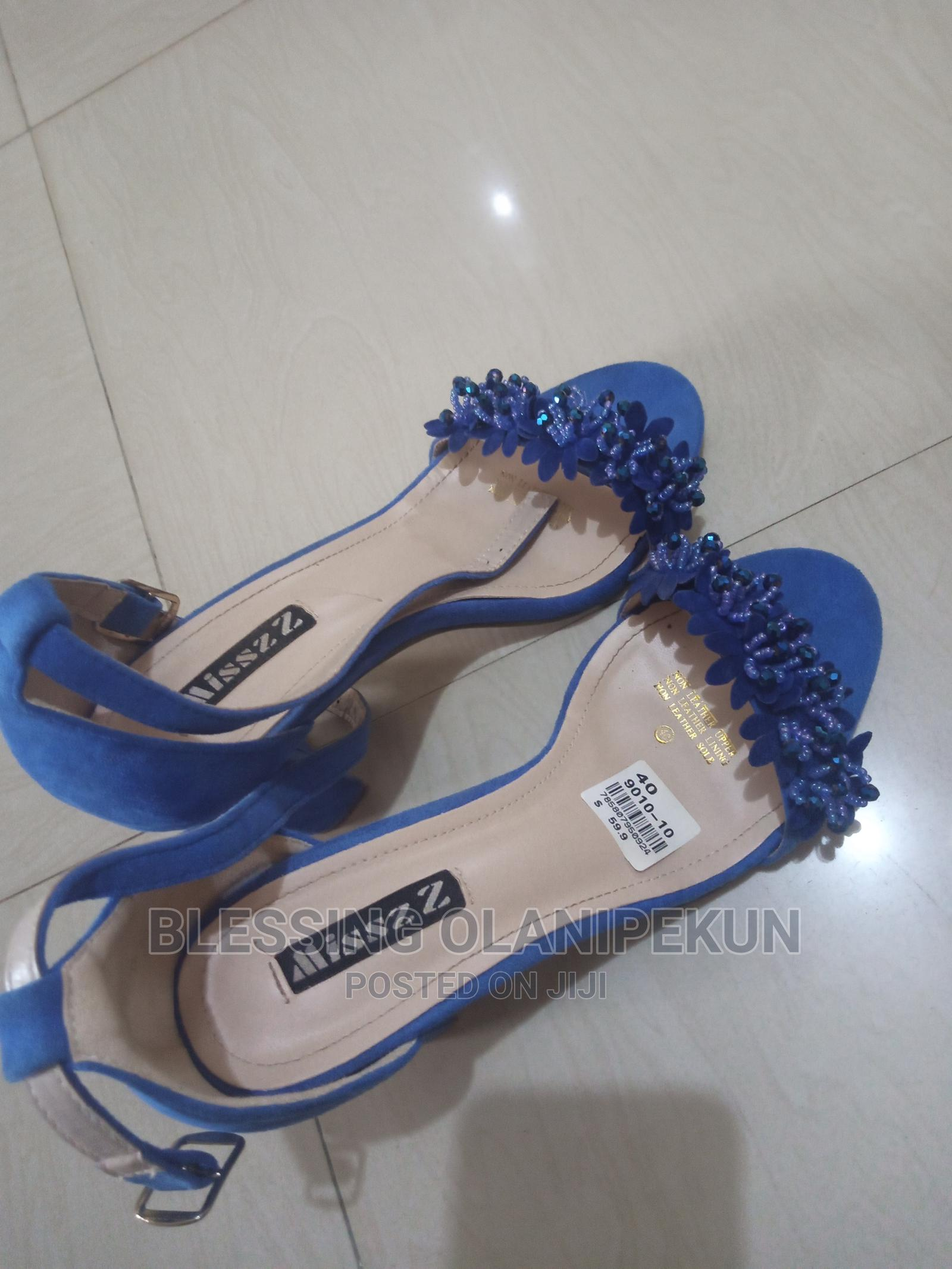 Suede High Heeled Royal Blue Sandals   Shoes for sale in Kubwa, Abuja (FCT) State, Nigeria