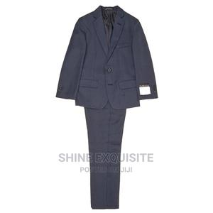 Boys 2-Piece Dark Blue Woven Suit Set by VAN HEUSEN | Children's Clothing for sale in Lagos State, Magodo