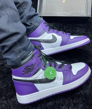 Air Jordan 1 High Purple Court 🍉   Shoes for sale in Lagos State, Lagos Island (Eko)