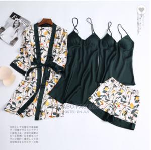 4pcs New Sexy Ladies Lingerie - Robe, Inner With 2pcs Set   Clothing for sale in Lagos State, Ogba