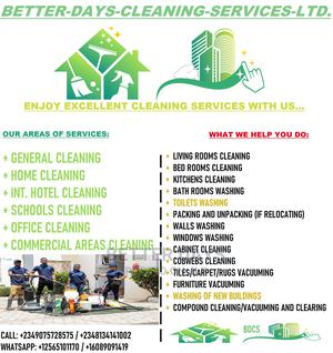 Better Days Cleaning Services | Cleaning Services for sale in Delta State, Sapele
