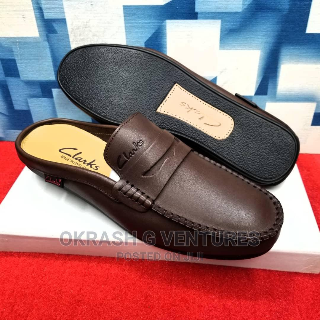 Clark's Loafers Half Leather Shoe For Men's | Shoes for sale in Lagos Island (Eko), Lagos State, Nigeria
