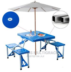Portable Folding Picnic Table, Beach Umbrella With 4 Seats.   Garden for sale in Abuja (FCT) State, Kubwa