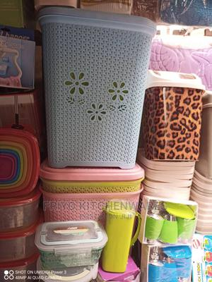 Plastic Laundry Basket With Cover | Home Accessories for sale in Abuja (FCT) State, Wuse