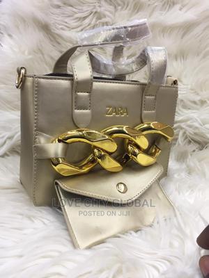 Zara Gold Designer Handbags With Purses Quality Zara Handbag | Bags for sale in Lagos State, Ikeja