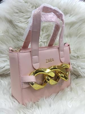 Classic Pink Gold Designed Zara Handbags. Women Zara Handbag | Bags for sale in Lagos State, Ikeja