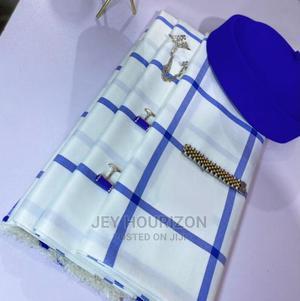Blue Cotton Senator Fabric Material | Clothing for sale in Lagos State, Lagos Island (Eko)
