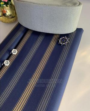 Blue Cotton Senator Fabric Material | Clothing for sale in Lagos State, Ikoyi