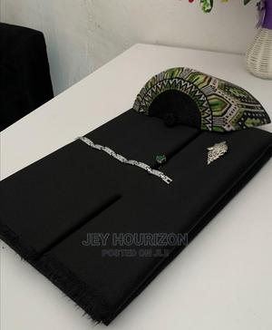 Black Cotton Senator Fabric Material | Clothing for sale in Lagos State, Ikoyi
