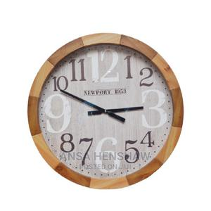 Wooden Frame Round Wall Clock 60cm*8cm | Home Accessories for sale in Oyo State, Egbeda