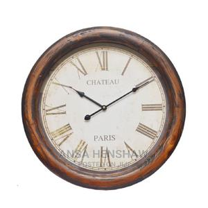 Wooden Frame With Metal Rim Wall Clock 50cm*6cm | Home Accessories for sale in Oyo State, Egbeda