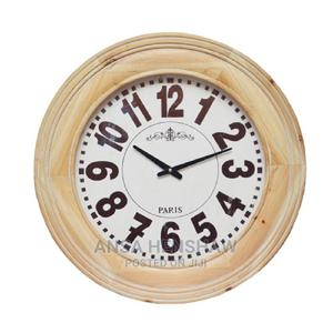 Wooden Framed Round Wall Clock 66.5cm*7.5cm | Home Accessories for sale in Oyo State, Egbeda