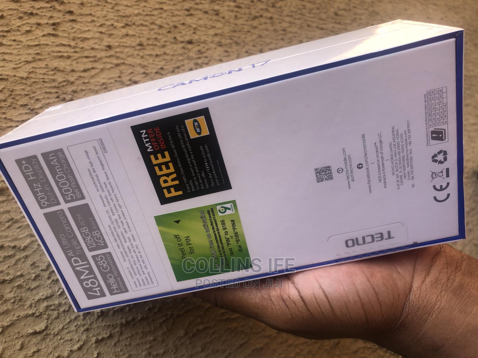 New Tecno Camon 17 128 GB Blue | Mobile Phones for sale in Enugu, Enugu State, Nigeria