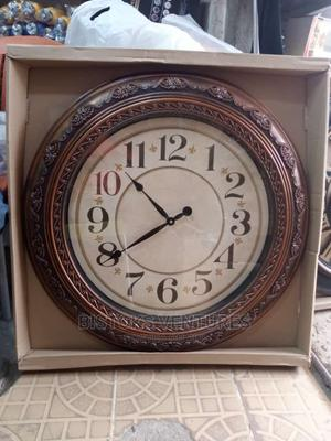 Brown Wooden Analogue Wall Clock | Home Accessories for sale in Lagos State, Lagos Island (Eko)